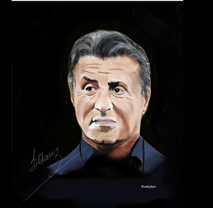 Sylvester Stallone by Willy8art